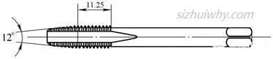 第3根丝锥的切削导向锥角修磨为12°